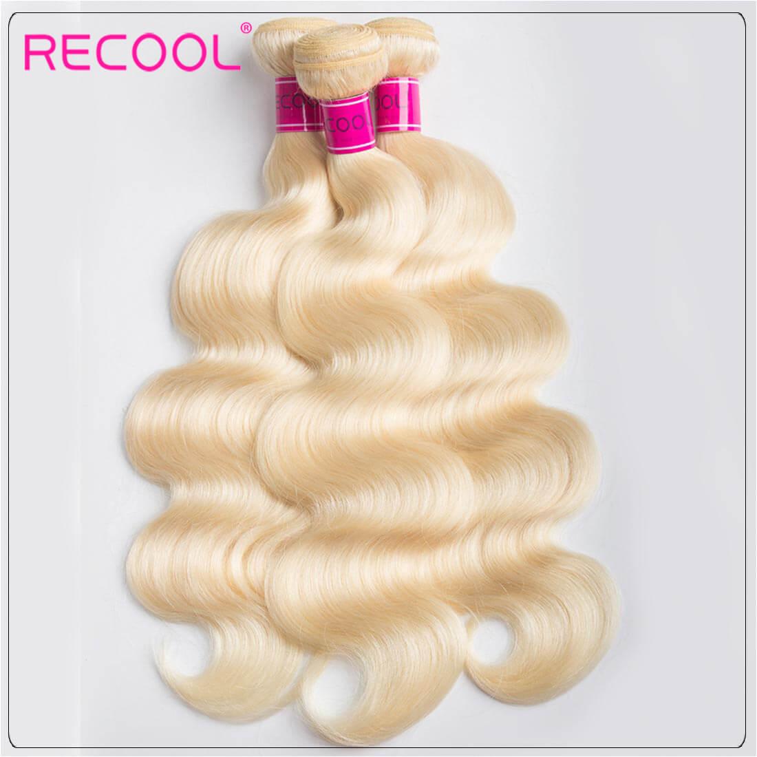 Blonde Hair Bundles 613 Virgin Hair Body Wave, 100% Virgin Blonde Human Hair Weave Body Wave Bundles