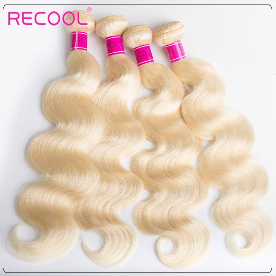 613 Blonde 4 Bundles Body Wave Blonde Weave Human Hair Weave 01