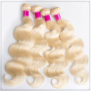613 Blonde 4 Bundles Body Wave Blonde Weave Human Hair Weave