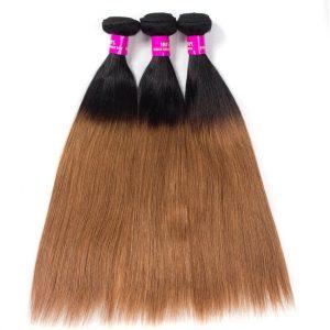 Brazilian Ombre Straight Hair 1B/30 Virgin Human Hair Bundles