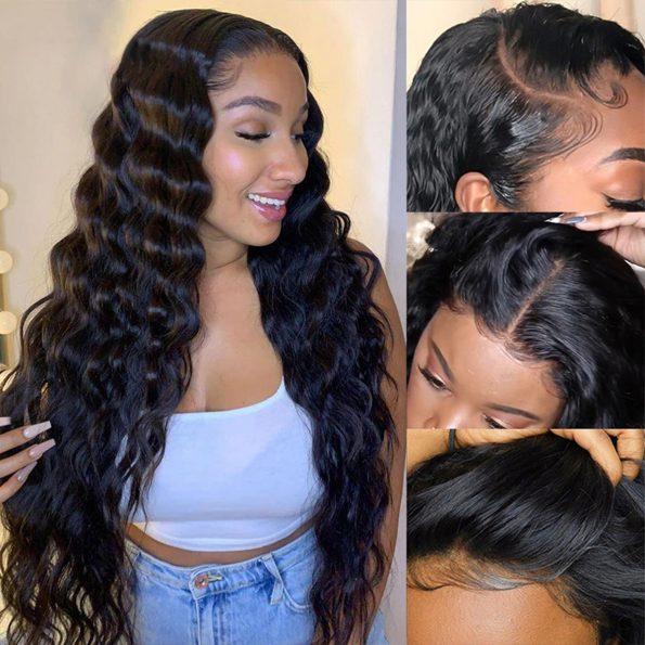 13×4 loose deep wave wig 4