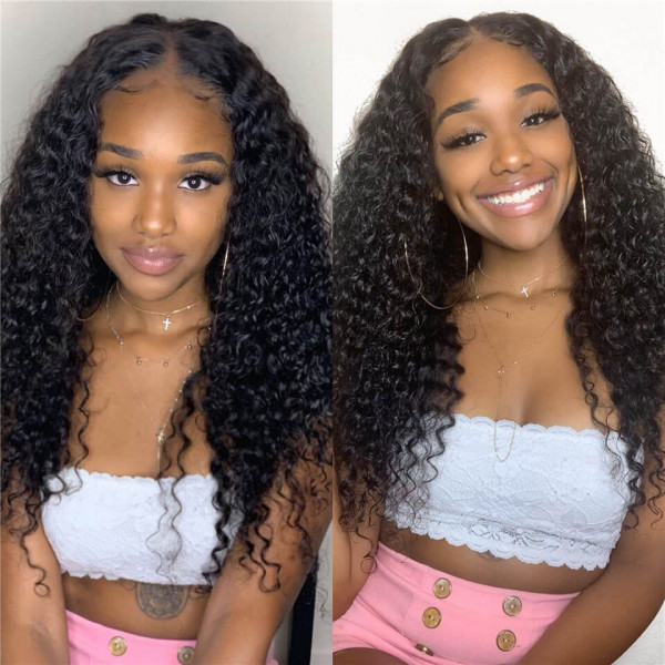 6×6 deep wave lace wig