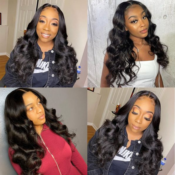 6×6 lace closure wig body wave