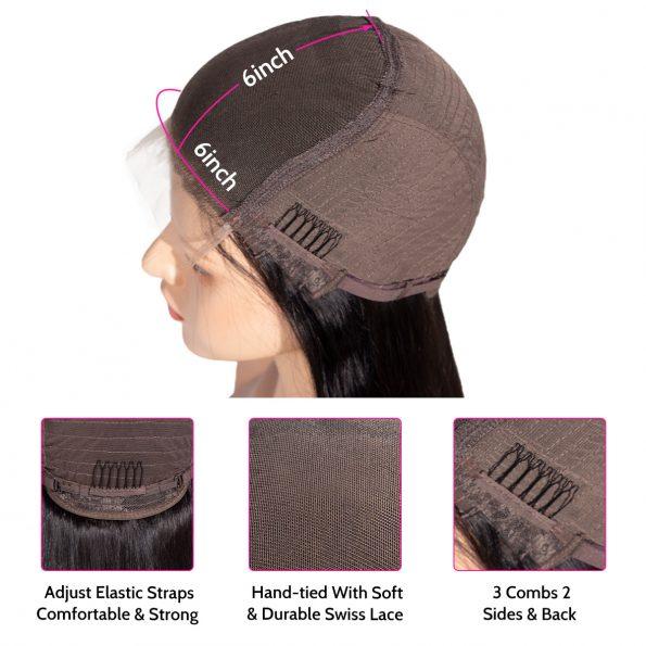 6×6 lace wig cap details