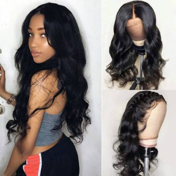 Body Wave Hair 13x4 Lace Front Wig Pre Plucked With Baby Hair