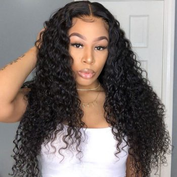 Brazilian Deep Wave 13x4 Lace Closure Human Hair Wigs