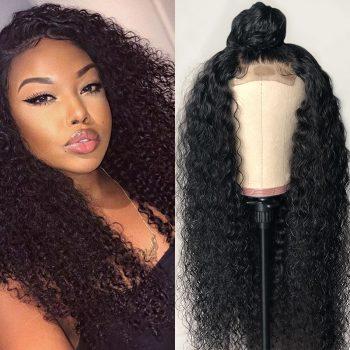 Brazilian Kinky Curly Wave 360 Lace Frontal Human Hair Wigs