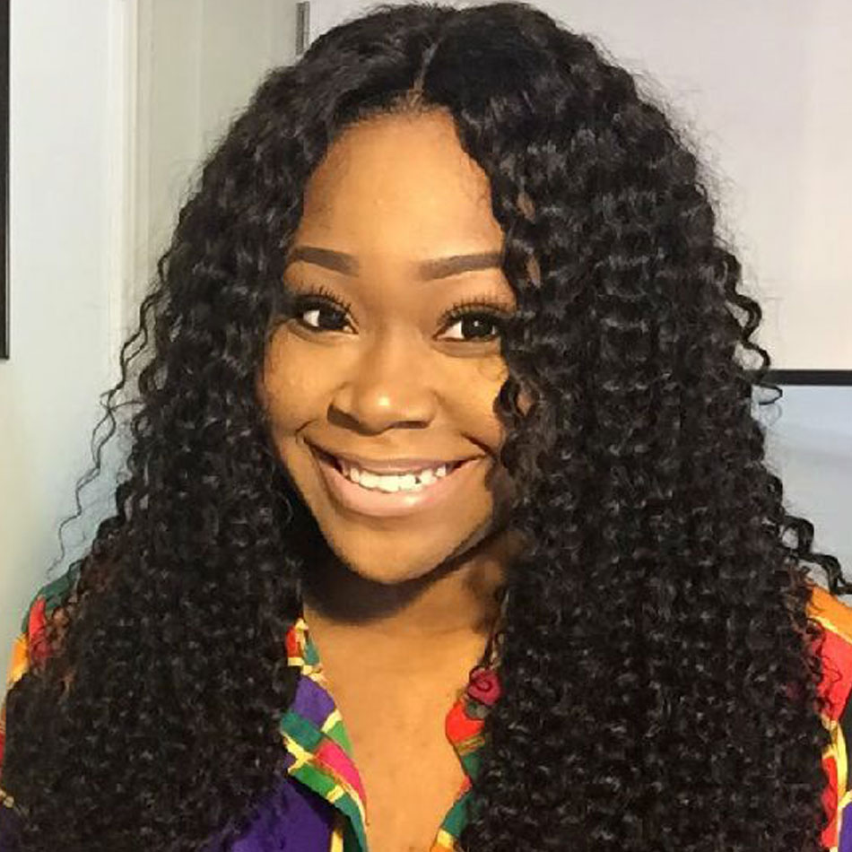 Kinky Curly Wave Lace Front Human Hair Wigs