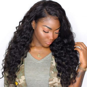 Loose Deep Wave Lace Front Human Hair Wigs Pre Plucked With Baby Hair