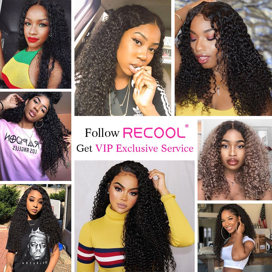 kinky curly wave hair lace front model show