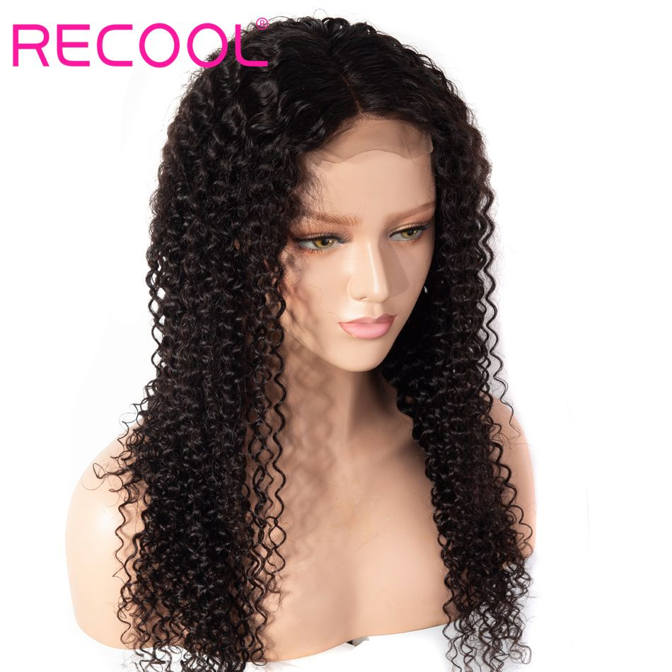 kinky curly wave lace front wig 1