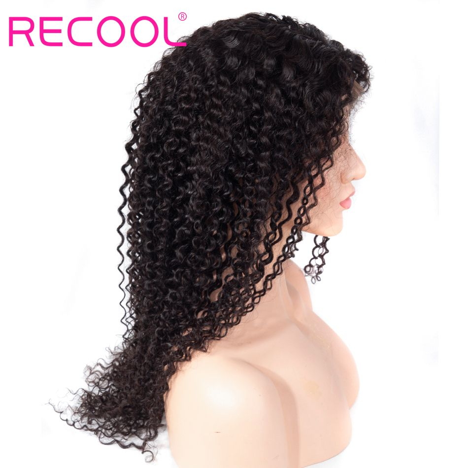 kinky curly wave lace front wig
