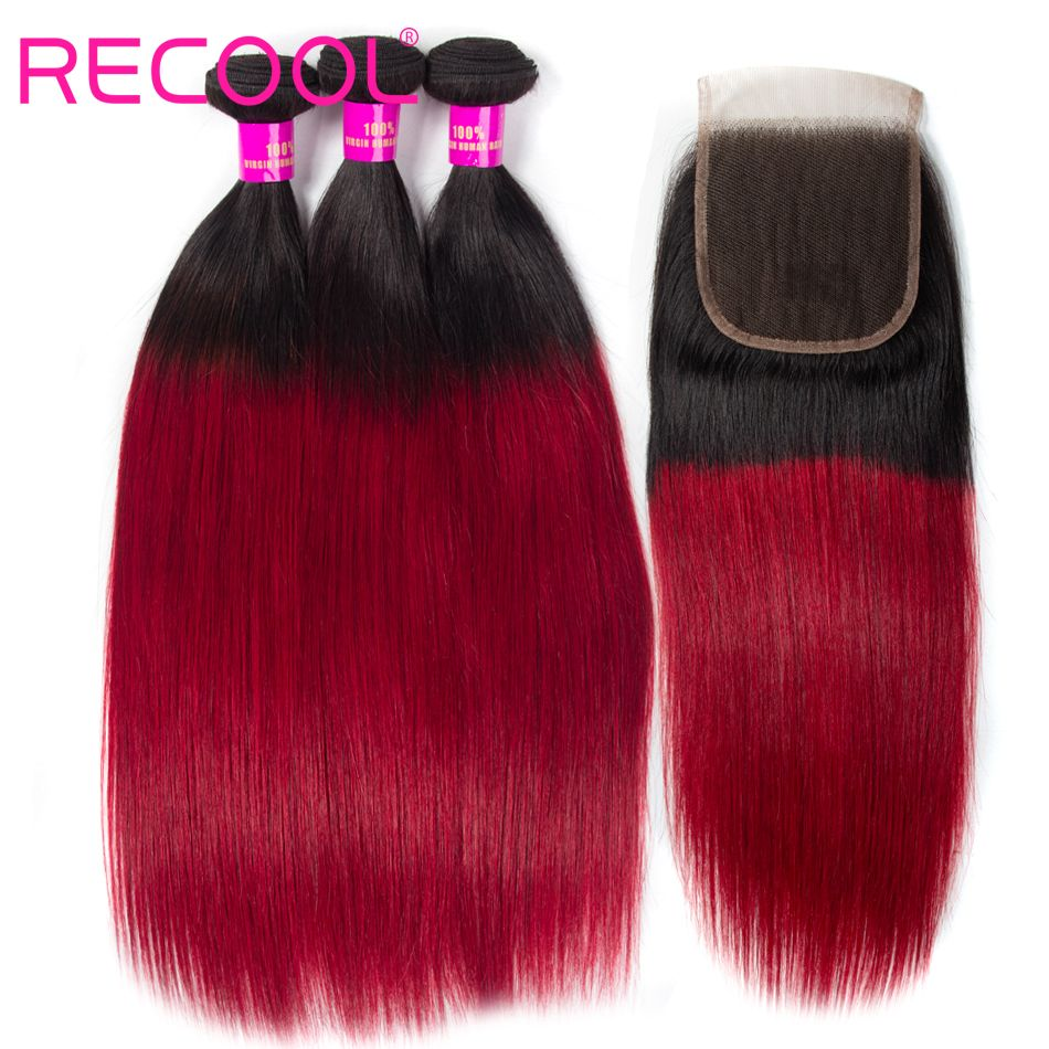recool hair 1B-burg with closure