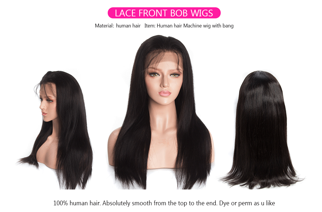 straight hair lace front wig