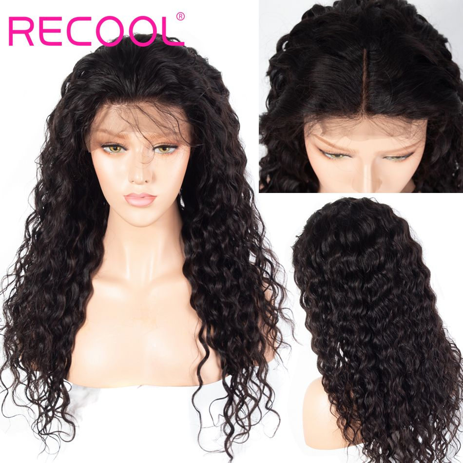 water wave 4X4 lace front wig