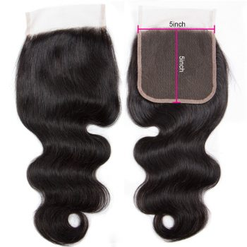 Virgin Body Wave Human Hair 5X5 Lace Closure