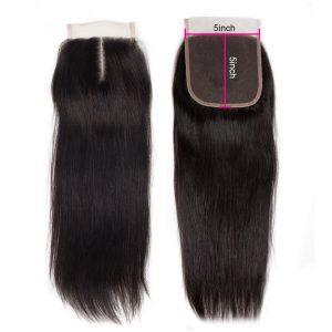 Virgin Straight Human Hair 5X5 Lace Closure