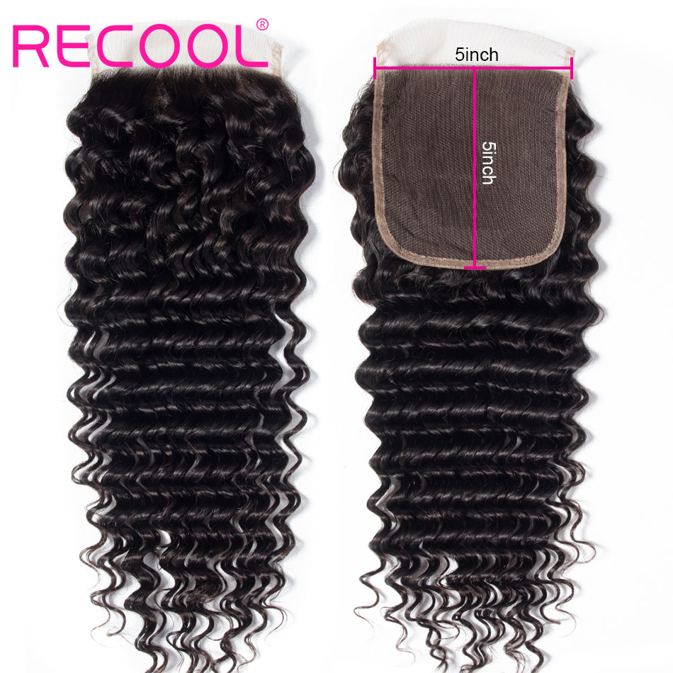 deep wave hair 5x5 lace closure