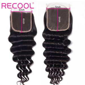 loose deep wave human hair 5x5 Lace Closure