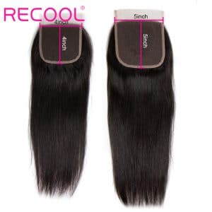 straight human hair 5x5 closure