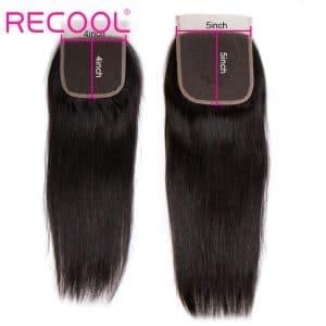 straight human hair 5x5 closure
