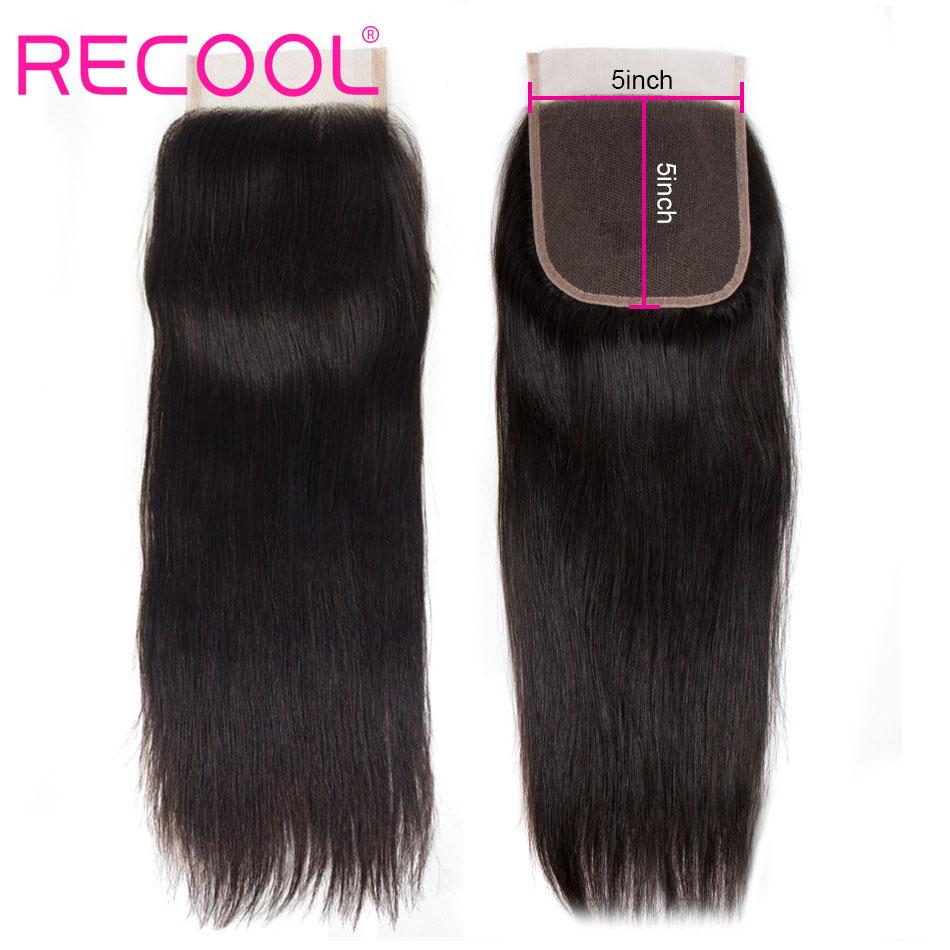 straight human hair 5x5 lace closure