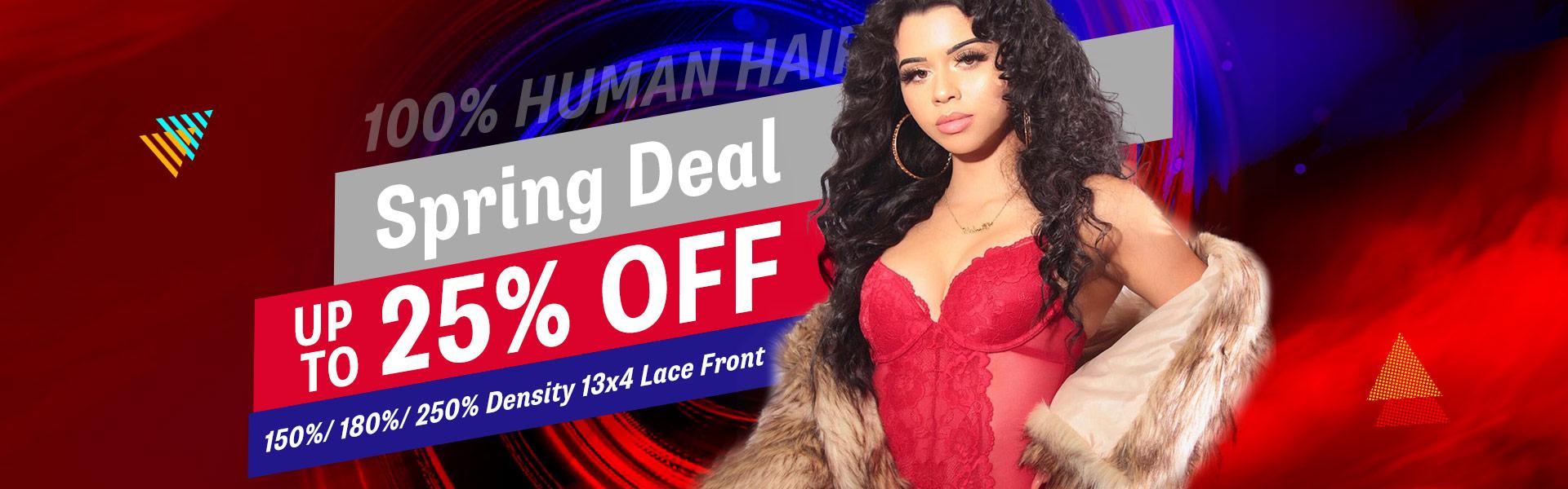 spring deal human hair