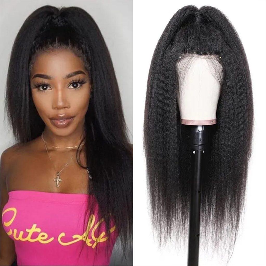 360 kinky straight wig