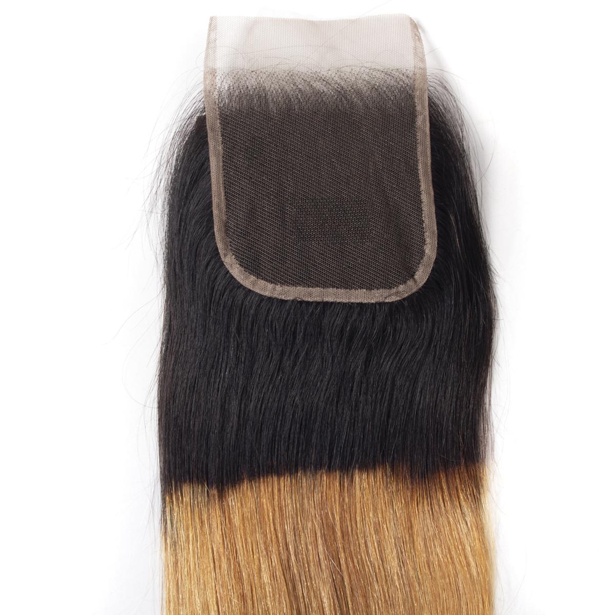 1B 27 straight hair lace closure 1