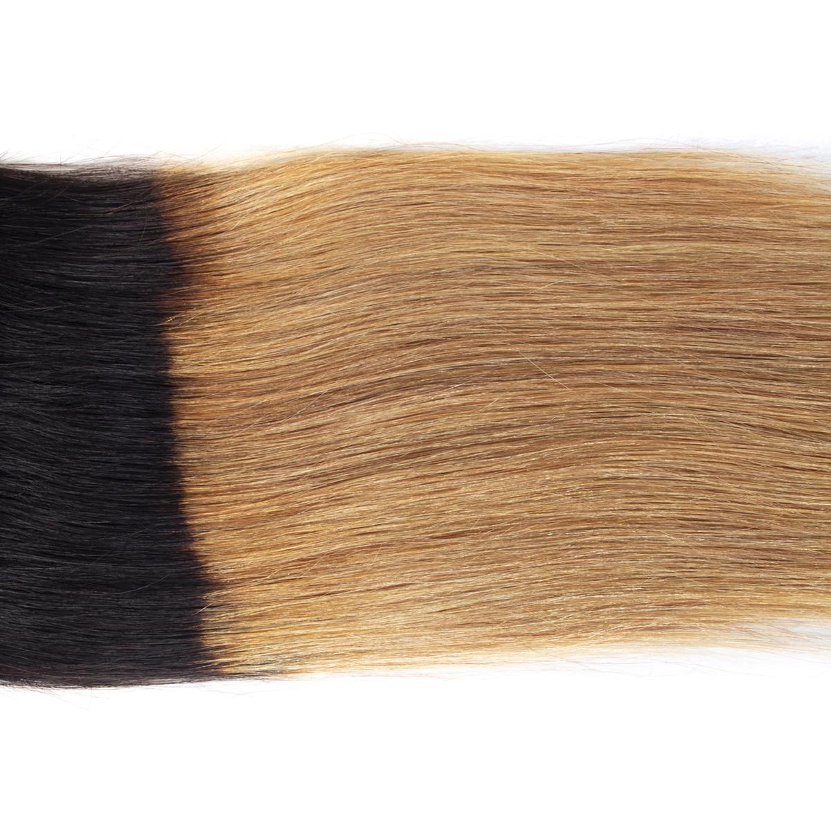 1B 27 straight hair lace closure 2