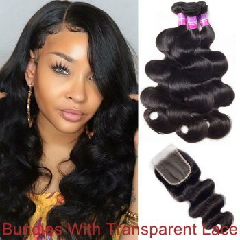 Bundles-With-Transparent-Lace-Closure-Brazilian-Human-Hair