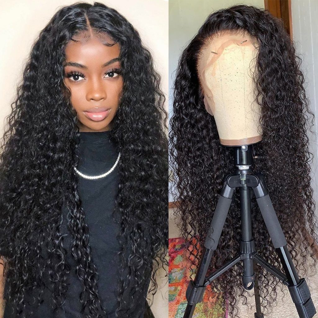Transparent lace deep wave wig 2
