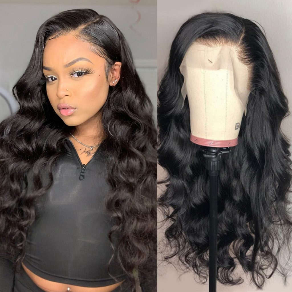 transaprent lace body wave wig 6