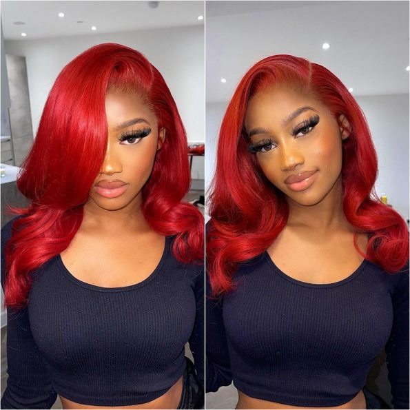 red body wave wig