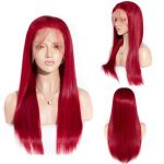Red body wave straight wig-1