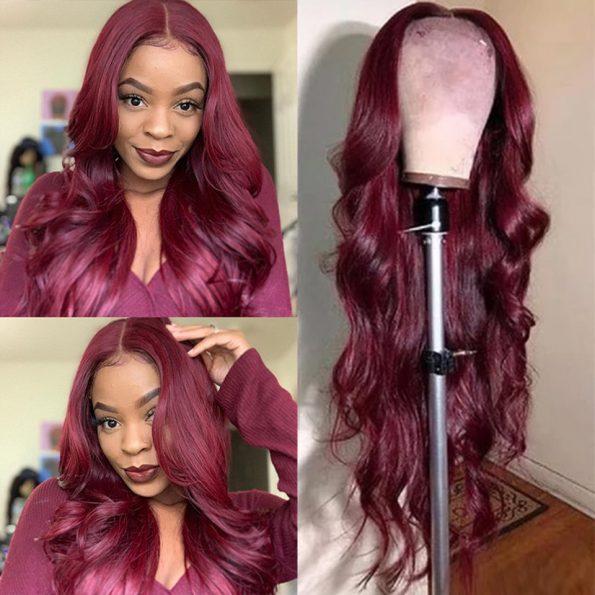 body wave 99j 5×5 lace wig (4)