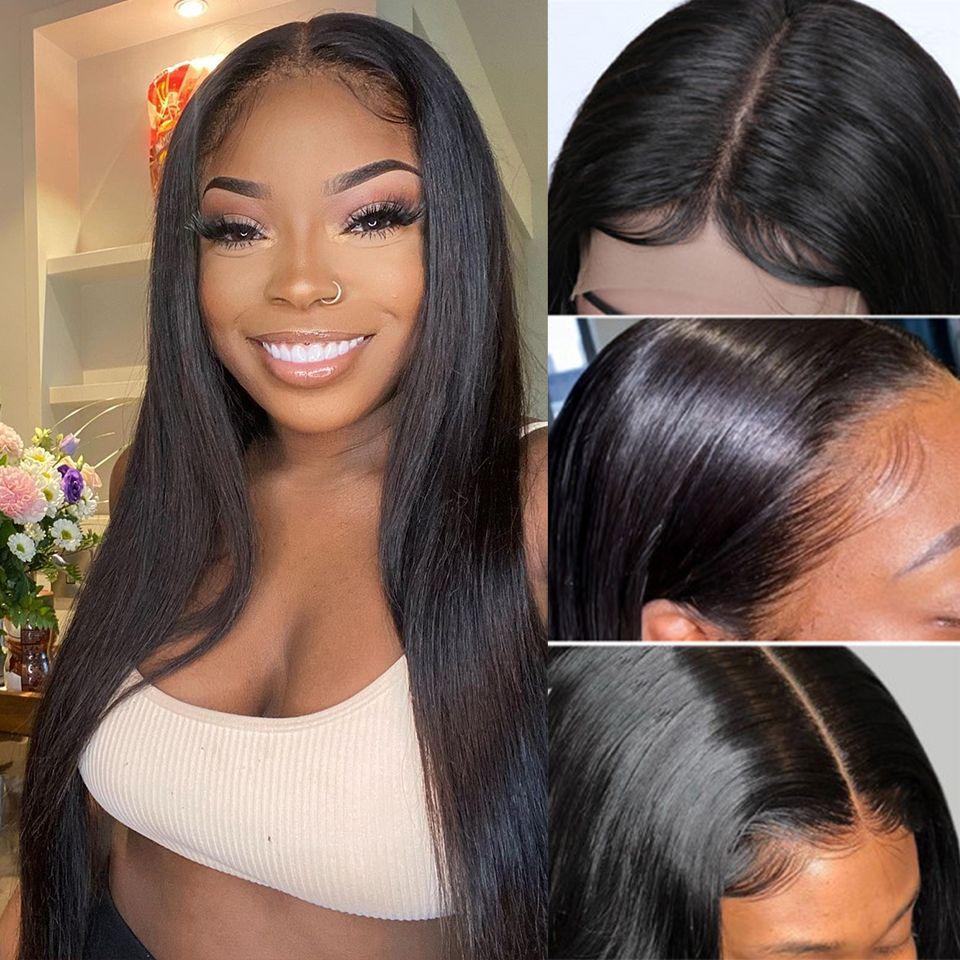 straight HD lace closure wig (1)