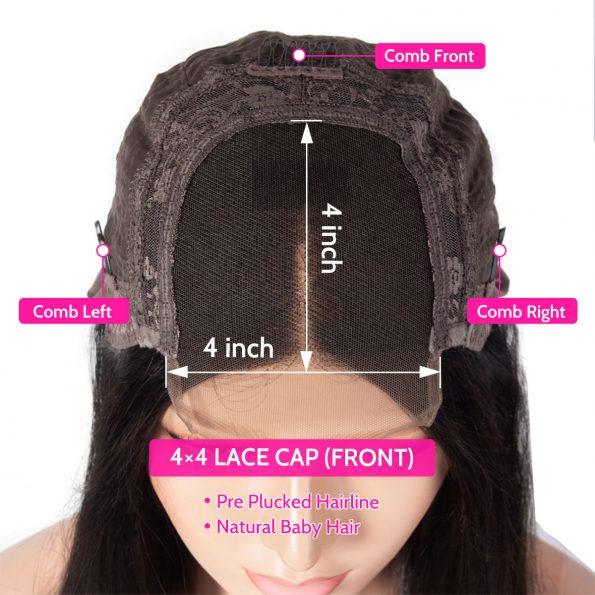 4×4 wig details