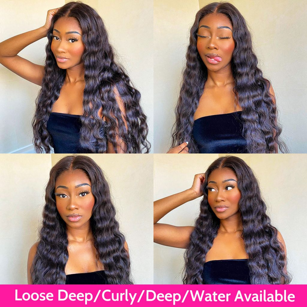loose deep wave closure wig