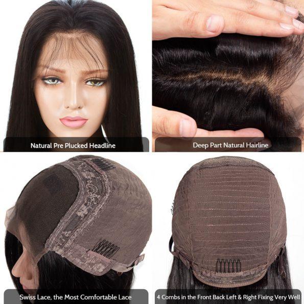 4×4 lace wig cap details